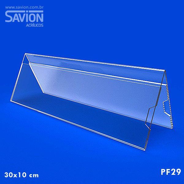 PF29-Prisma de mesa dupla face 30x10 cm