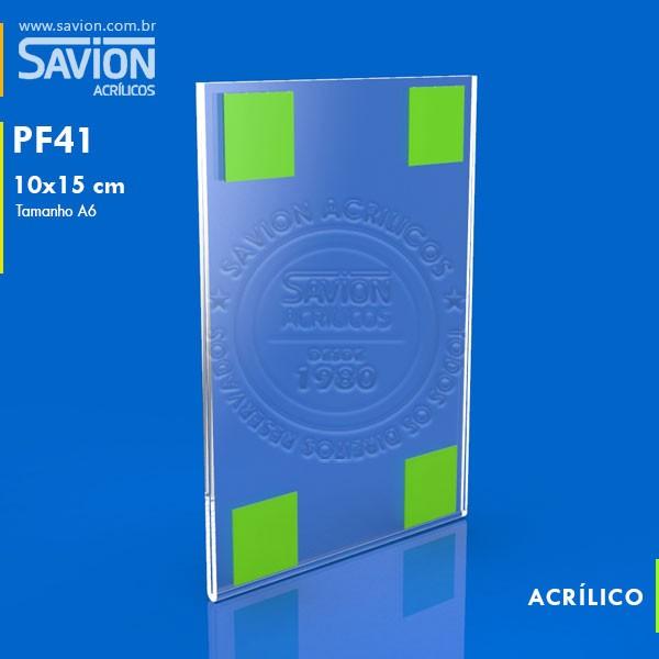 PF41-Porta Folheto de Parede 10x15 Cm A6 Vertical