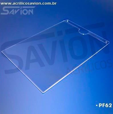PF62-Porta Folheto de parede 22x30 cm A4 Vertical