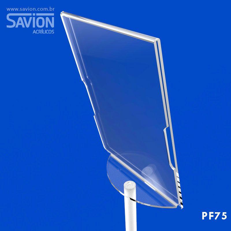 PF75-Porta Folheto A4 de Piso