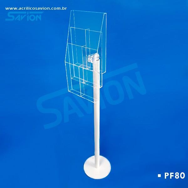 PF80 Display 6 Bolsas 1/3 de A4 de Piso 30x30x130 cm