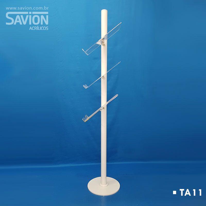 TA11 Totem Com 3 Bolsas A4 Lateral 40x40x150 Cm
