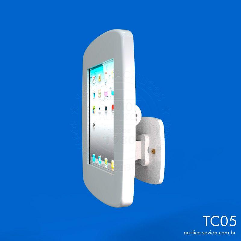 TC05-Suporte Em Acrilico de Mesa e Parede Para Ipad 32x30x35 Cm