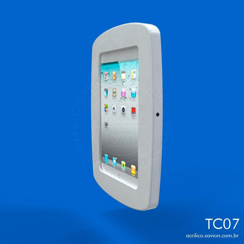 """TC07-Suporte Em Acrilico de Parede Para Ipad 9,7"""""""