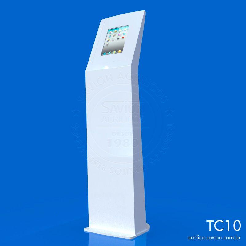 "TC10-Totem Em Acrilico Para Tablet e Ipad de 9 A 10,1"""
