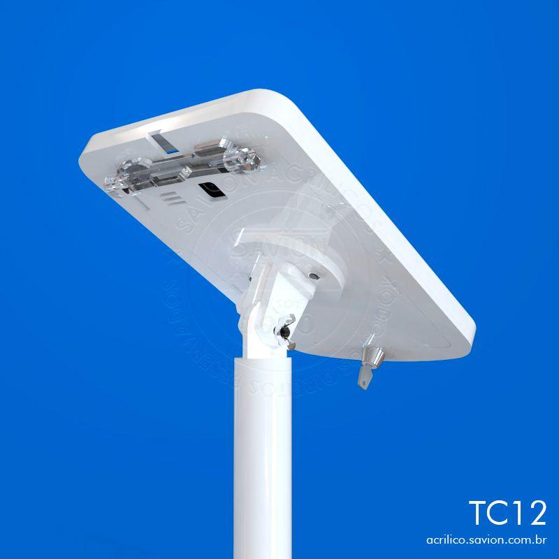 TC12-Suporte Em Acrilico de Piso Para Tablet Samsung Tab-E SM T561M