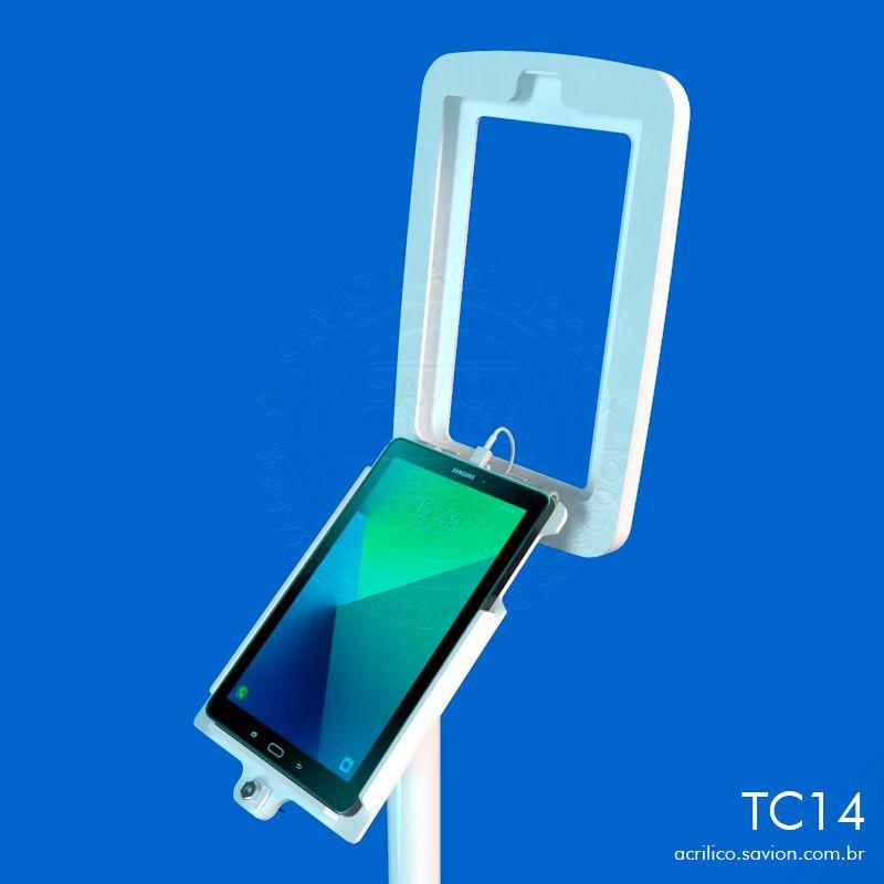 TC14-Suporte Em Acrilico De Piso Para Tablet Samsung Tab A Sm P585 10,1