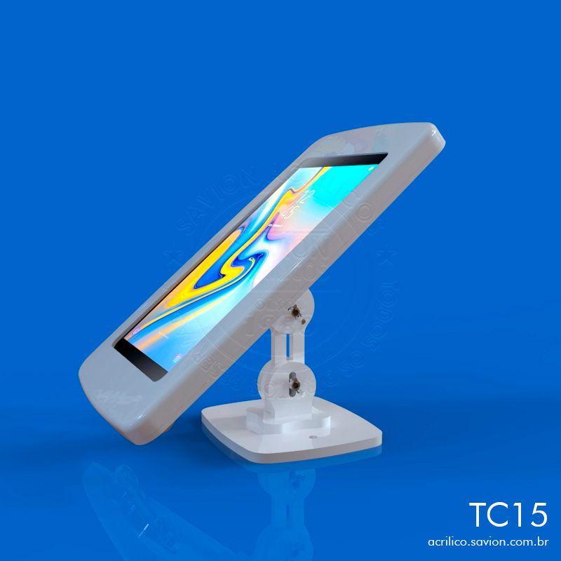"""TC15-Suporte Em Acrilico Mesa e Parede Para Samsung Tab A Sm P595 10,5"""""""