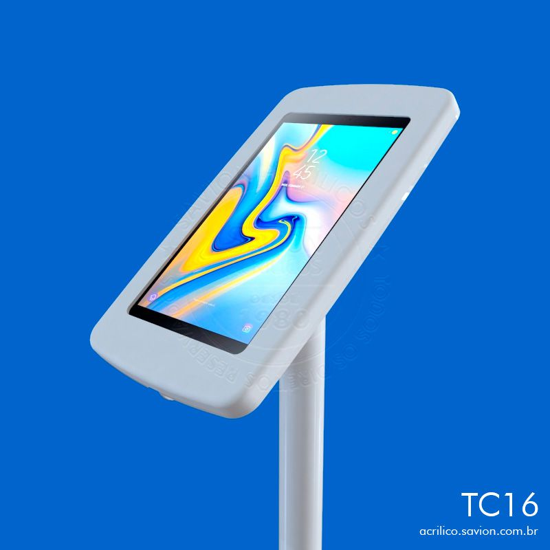 """TC16-Suporte Em Acrilico De Piso Para Samsung Tab A Sm P595 10,5"""""""