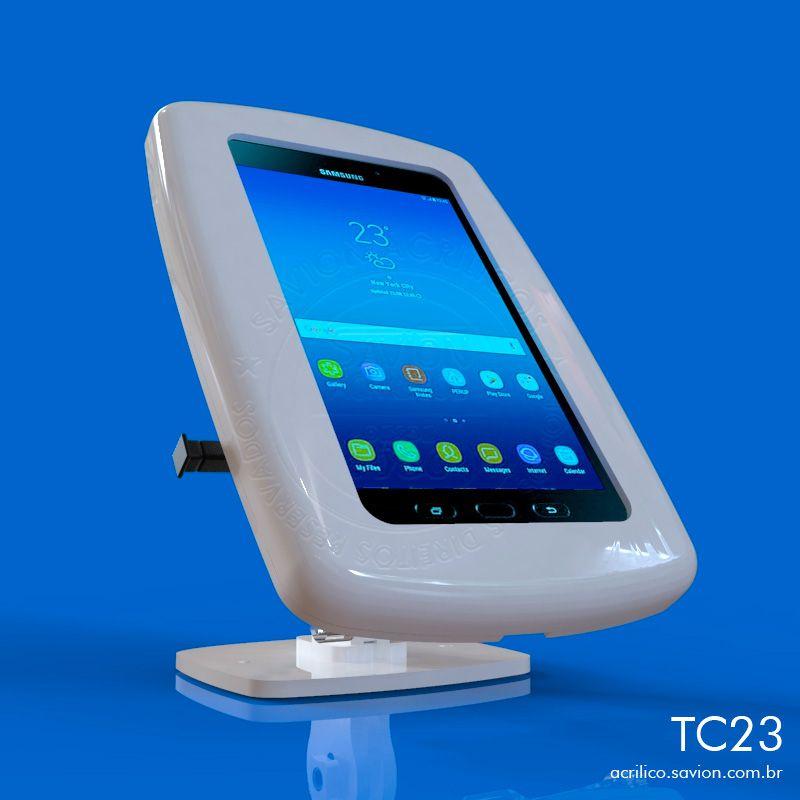"TC23-Suporte Em Acrilico Galaxy Tab Active2 Sm-t395 de 8"""