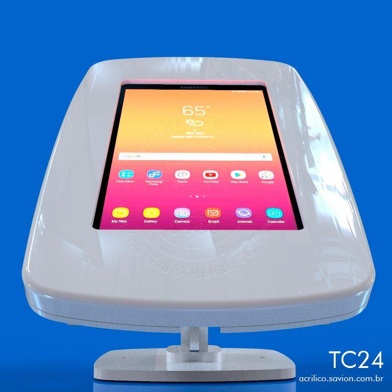 "TC24-Suporte Em Acrilico de Mesa Tablet Samsung Tab Sm-t385 de 8"""