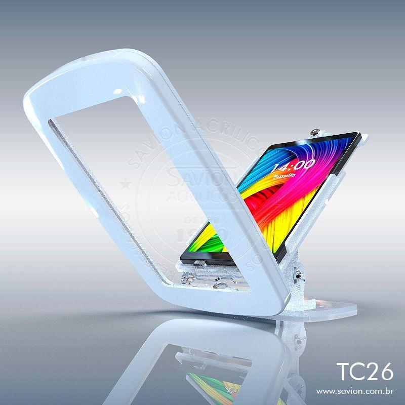 """TC26-Suporte Em Acrilico Mesa e Parede Samsung Tab Sm-t510 10,1"""""""