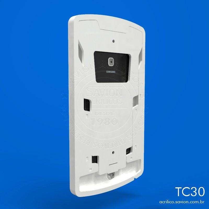 """TC30-Suporte Em Acrilico de Parede Samsung Tab A Sm T285 de 7"""""""