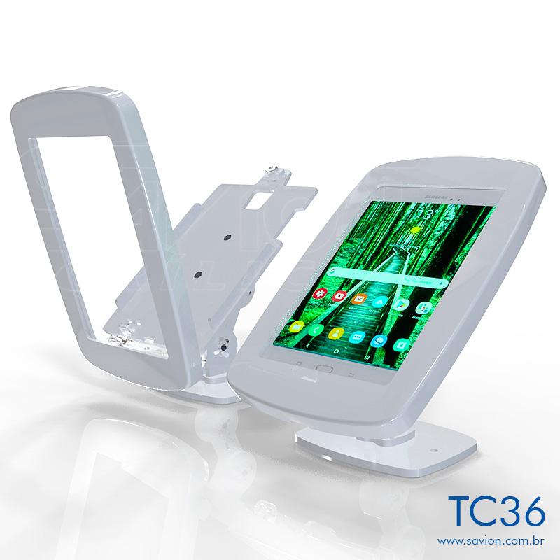 TC36-Suporte Em Acrilico Mesa e Parede Samsung Tab A P355 8