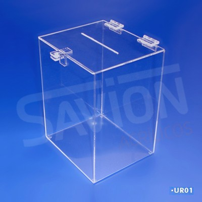UR01-Urna Cubo pequena 20x17x26 cm 1000 cupons