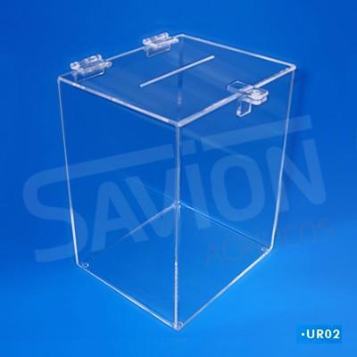 UR02-Urna Cubo média 20x20x30 cm 1200 cupons