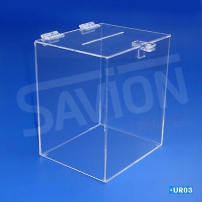 UR03-Urna Cubo grande 26x30x36 cm 2200 cupons