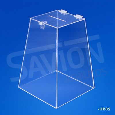 UR32-Urna Pirâmide média 30x30x40 cm 2200 cupons