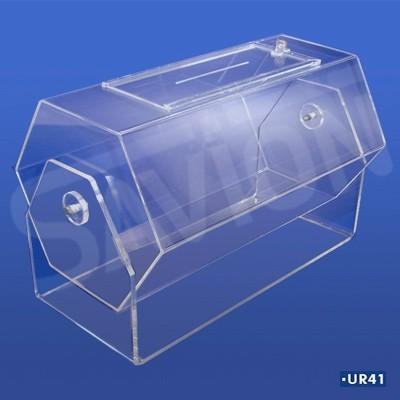 UR41-Urna Sextavada giratória Baú 60x40cm 18000 cupons