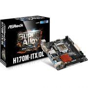 Placa Mae ASROCK INTEL H170 (1151)  Miniitx - H170M-ITX/DL (IMP)