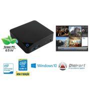 NVR PRO Multimidia Digifort Centrium Security Cubi INTEL Core I3 5015U 4GB 1TERA 8CAM 4K Wifi BT Win