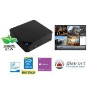 NVR PRO Multimidia Digifort Centrium Security Cubi INTEL Core I5 5200U 4GB 1TERA 32CAM 4K Wifi BT Wi