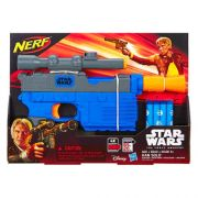 Lançador NERF HAN Solo STAR WARS THE Force Awakens AZUL Hasbro B3970/4146 11645