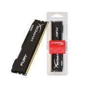 Memoria Desktop Gamer DDR4 HYPERX HX424C15FB/16 FURY 16GB 2400MHZ NON-ECC CL15 DIMM BLACK