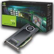 Placa de Video PNY Quadro NVS 810 4GB DDR3 128BITS - VCNVS810DP-PORPB
