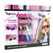 Oculos de SOL Infantil MY STYLE Brinquedo KIT Miçangas Cordao Pedrinhas Multikids BR013