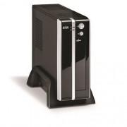 Gabinete com Fonte K-MEX GI9E89DW0020B0X GI-9E89 Mini ITX PRETO/PRATA C/FONTE 180W/HD Audio