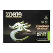Placa de Video Zogis GTX 670 2GB/256BIT  ZOGTX670-2GD5H