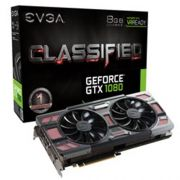 Placa de Video EVGA Geforce GTX 1080 Classified Gaming ACX 3.0  8GB DDR5X - 08G-P4-6386-KR