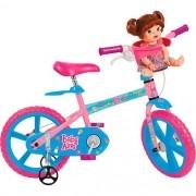 Bicicleta Infantil Bandeirante BABY Alive ARO 14 Rosa e AZUL 2253