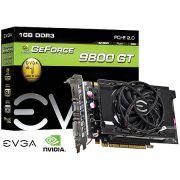 Placa de Video EVGA Geforce 9800 GT 01G-P3-N988-L1 1GB DDR3 DVI-I/HDMI/VGA 256 BITS