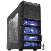 Gabinete Gamer Rhino sem Fonte com 3 FAN de 120MM com LED AZUL PCYES