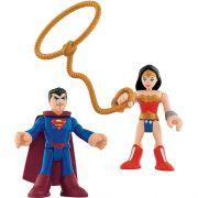 Imaginext Super Friends Super Homem e Mulher Maravilha Mattel M5645 035863