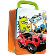 Maleta HOT Wheels Porta Carrinhos Laranja INTEK HWCC2