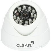 Camera AHD Mini Dome IR 25M 2,8MM 720P AHD-24L Branca Clear
