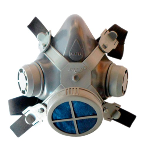 Mascara Respirador Alltec 1 Filtro Poeiras e Névoas