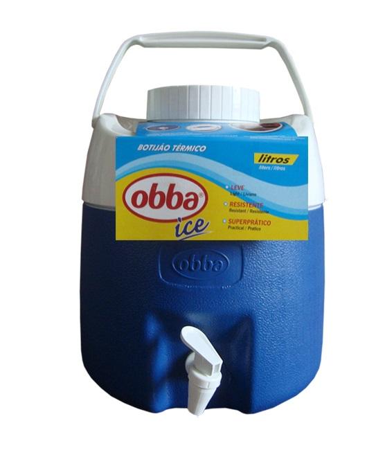 Botijão Térmico Obba Ice 8 Litros Azul Com Torneira