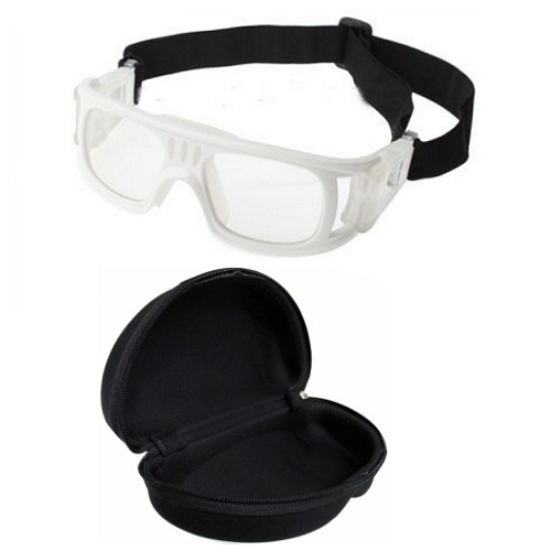 Óculos Eyki De Futebol Basquete Branco Quad + Case