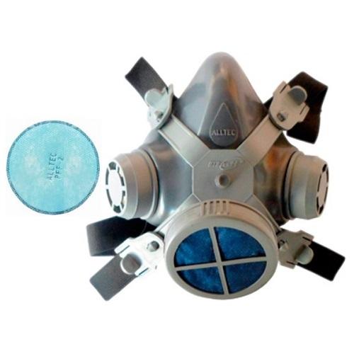 Mascara Respirador Alltec 1 Filtros + 1 Refil Poeira E Névoa