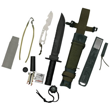 Faca Platoon Verde Nautika Tatica Sobrevivência, Caça E Pesca