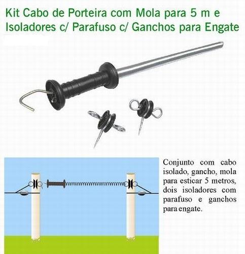Kit Cabo Isolado + Mola Para Porteira Cerca Elétrica  - Casafaz