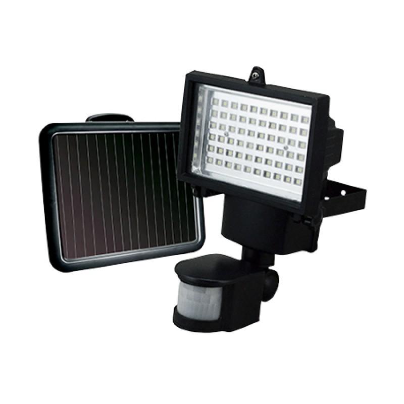 Refletor Solar 60 Leds Com Sensor Movimento Ecoforce