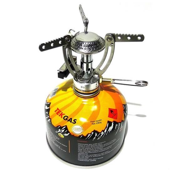 Fogareiro Compacto Jupiter Azteq + 1 Cartucho De Gás Tekgas Nautika