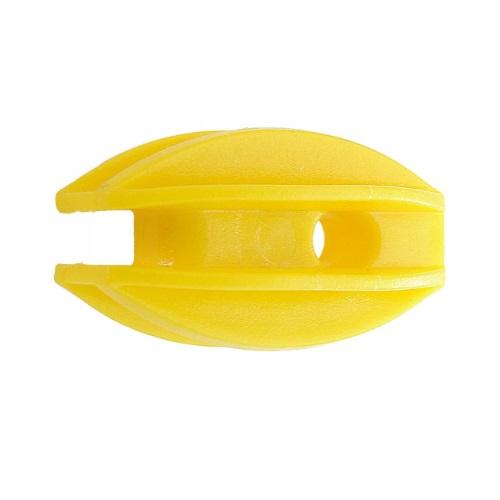 Isolador Cerca Elétrica De Canto Amarelo Com 25 Unidades
