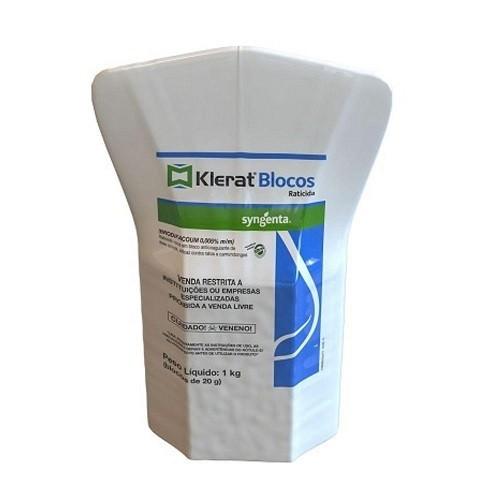 Raticida Klerat Bitrex 1kg 50 Blocos de 20g