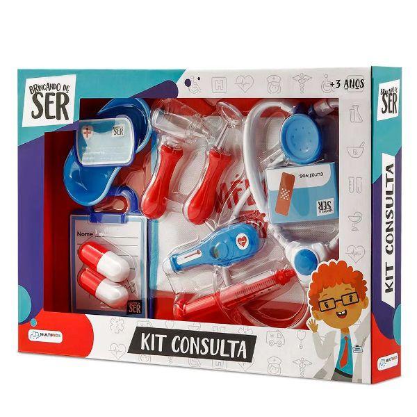 Brincando de Ser Kit Consulta Com Acessórios Azul/Vermelho Multikids - BR959